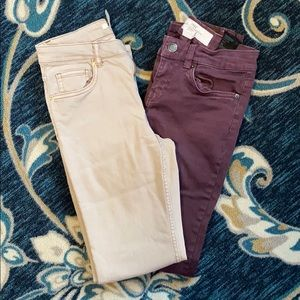 Bundle of two size 4 jeans.